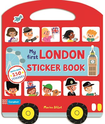 Book cover for My First London Sticker Book